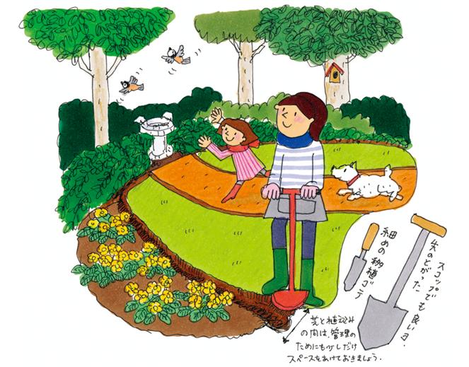 お庭をきれいに見せるコツ