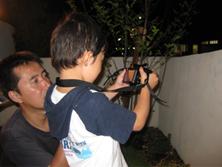 庭の写真を撮る